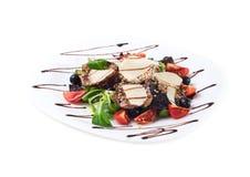 El salat delicioso de las comidas de la carne de vaca Foto de archivo