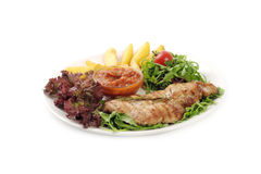 El salat delicioso de las comidas de la carne de vaca Imagenes de archivo