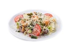 El salat delicioso de las comidas de la carne de vaca Imagen de archivo