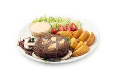 El salat delicioso de las comidas de la carne de vaca Fotos de archivo