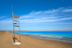 El Saler beach of Valencia at Mediterranean Royalty Free Stock Images