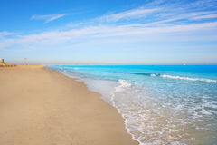El Saler beach of Valencia at Mediterranean Stock Photography