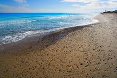 El Saler beach of Valencia at Mediterranean Stock Images