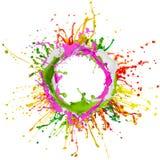El salpicar colorido de la pintura Imágenes de archivo libres de regalías