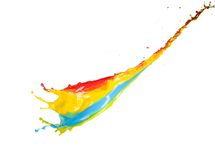El salpicar colorido de la pintura Foto de archivo