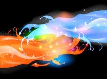 El salpicar colorido fantástico Fotografía de archivo libre de regalías