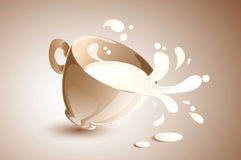 El salpicar de la leche Imágenes de archivo libres de regalías