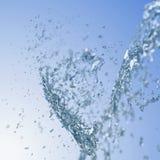 El salpicar del agua. Imagenes de archivo