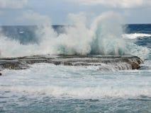 El salpicar del agua de Barbados Foto de archivo libre de regalías