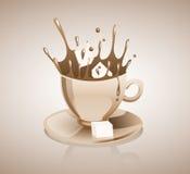 El salpicar del café Fotografía de archivo