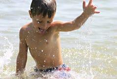El salpicar del verano Foto de archivo libre de regalías
