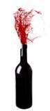 El salpicar del vino Foto de archivo libre de regalías