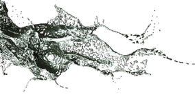 El salpicar derramando el metal en la cámara lenta ilustración del vector