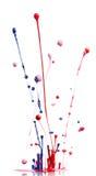 El salpicar multicolor de la pintura imagenes de archivo