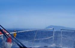 El salpicar perfecto de la precipitación excesiva del barco Imagen de archivo