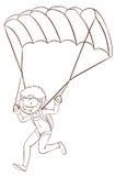 El saltar en caída libre del muchacho ilustración del vector