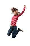 El salto de la chica joven fotos de archivo