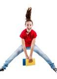 El salto de la chica joven Fotos de archivo libres de regalías