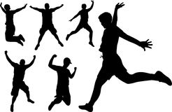 El salto de la gente Foto de archivo