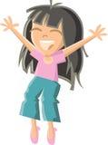 El salto de la muchacha Libre Illustration