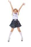 El salto de la niña Foto de archivo libre de regalías