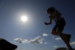El salto de los cabritos Imagen de archivo libre de regalías