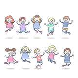 El salto de los niños   libre illustration