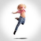 El salto del bailarín foto de archivo libre de regalías