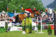El salto del caballo Fotos de archivo