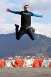 El salto del hombre Imagen de archivo