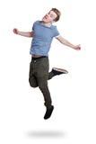 El salto del individuo Foto de archivo libre de regalías