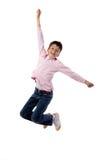 El salto del niño Fotografía de archivo libre de regalías