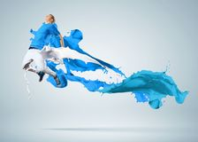 Bailarín moderno del estilo Imagen de archivo libre de regalías