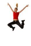 El salto y sea feliz Imagen de archivo