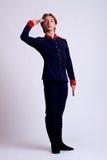 El saludar del ejecutante del ballet fotos de archivo libres de regalías