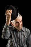 El saludar del viejo hombre Fotografía de archivo libre de regalías