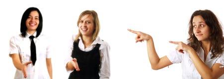 El saludar es importante Foto de archivo libre de regalías