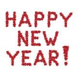El saludo de la Feliz Año Nuevo de la Navidad roja florece Imágenes de archivo libres de regalías