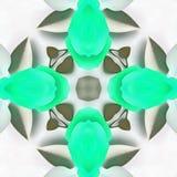 El saludo del caleidoscopio del batik puede Foto de archivo