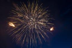 El saludo festivo en honor del día de la victoria encendido puede 9 Foto de archivo