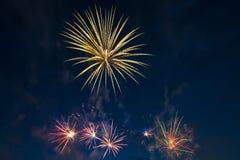 El saludo festivo en honor del día de la victoria encendido puede 9 Fotografía de archivo libre de regalías