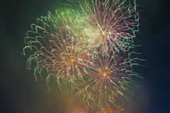 El saludo festivo en honor del día de la victoria encendido puede 9 Fotos de archivo