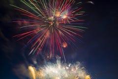 El saludo festivo en honor del día de la victoria encendido puede 9 Imagen de archivo