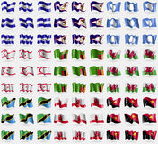 El Salvador, Ameroacan Samoa, Antarctica, Turkish Northern Cyprus, Zambia, Wales, Tanzania, Gibraltar, Papua New Guinea. Big set o Stock Photos