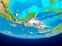 El Salvador auf Kugel vom Raum Stockbild