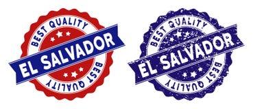 EL Salvador Best Quality Stamp con superficie sporca Immagine Stock Libera da Diritti