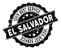 EL Salvador Best Service Stamp con effetto sporco Fotografie Stock