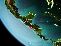 El Salvador bij nacht ter wereld royalty-vrije stock foto's