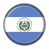 El salvador button flag round shape Royalty Free Stock Image