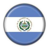 El salvador button flag round shape Royalty Free Stock Image